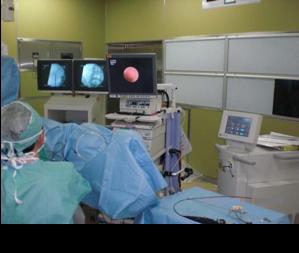 レーザーによるTUL手術の様子